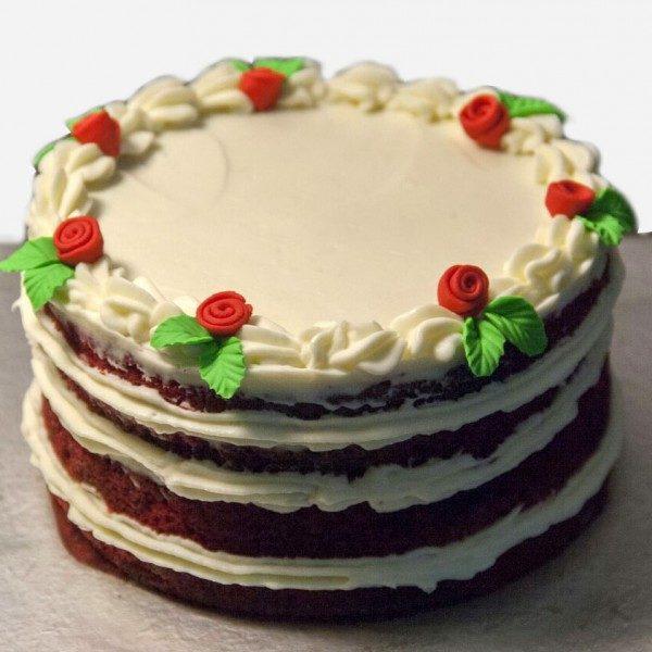 Rosy Red Velvet Cake