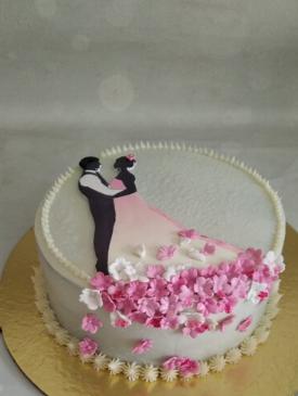 Couple Portrait Anniversary Cake