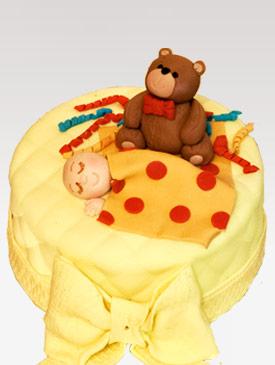 Baby Shower Teddy Cake