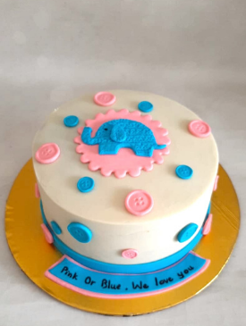 Pink & Blue Baby Shower Cake