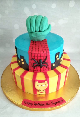 Spiderman & Avengers Cake