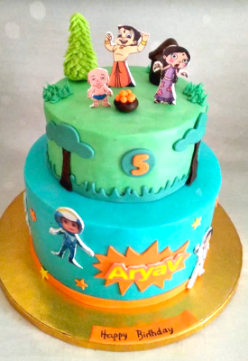 Vir The Robot Boy & Chota Bheem Cake