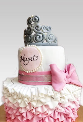 1st Birthday Princess Theme Cake