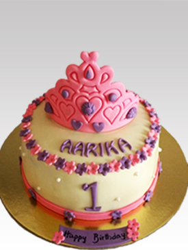 First Birthday Cake with Tiara