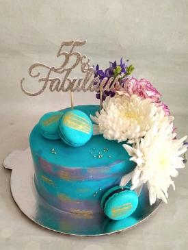 55 & Fabulous Cake