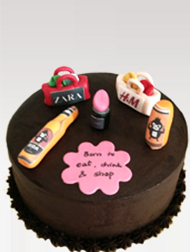 Cake for a Makeup & Shopping Lover