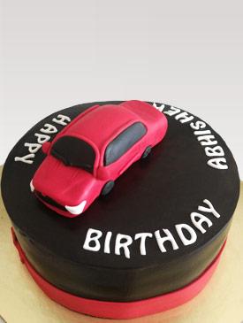 Sedan Car Topper Cake