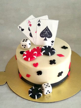 Poker Theme Cake