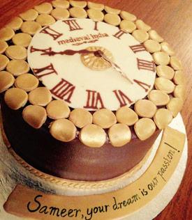 Medieval India Clock Cake