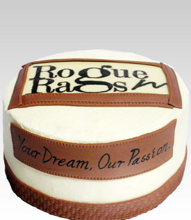 Rogue'n Rags Logo Cake