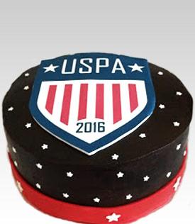 USPA Logo Cake