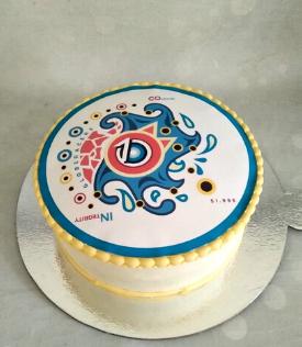Globeracers Logo Cake