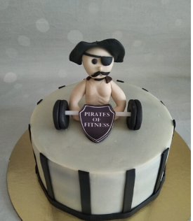 Pirates of Fitness Logo Cake