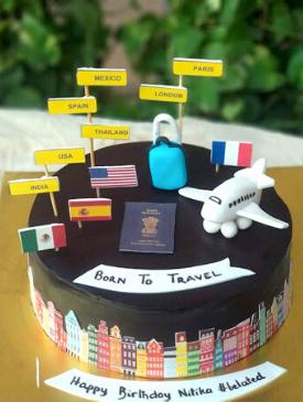 Travel Theme Cake