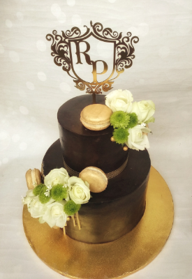 Two Tier Chocolate Reception Cake
