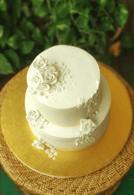 White Christian Wedding Cake