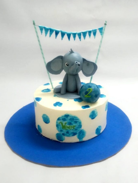 1st Birthday Elephant Cake