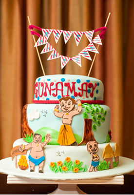 Chota Bheem 1st Birthday Cake