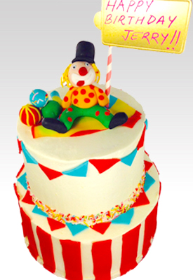 2 Tier First Birthday Circus Cake
