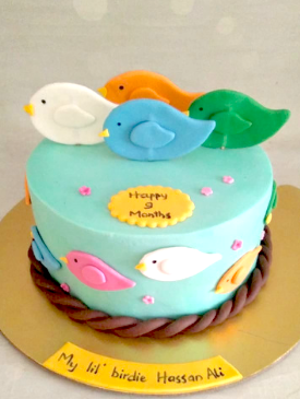 Little Birdie Birthday Cake
