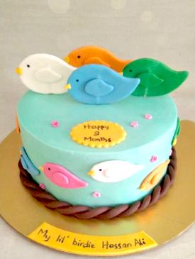 Little Birdie Birthday Cake