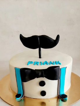 Little Man 1st Birthday Cake