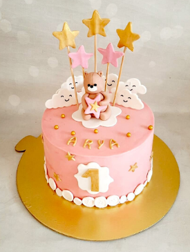 Brilliant First Birthday Cakes For Girls The Bakers Funny Birthday Cards Online Alyptdamsfinfo