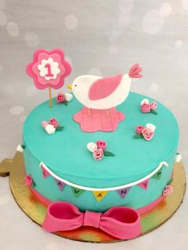 First Birthday Little Birdie Cake