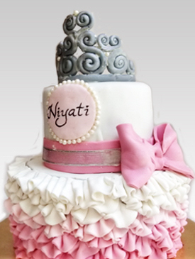 Remarkable First Birthday Cakes For Girls The Bakers Personalised Birthday Cards Veneteletsinfo